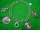 Vintage Sterling Christmas Charm Bracelet 6 Charms