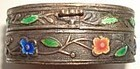 Antique Silver Enamel Snuff Box Container Marked CHINA