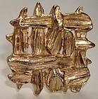 Vintage Bergere Mod Clipback Earrings Gold Tone
