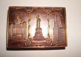 GREAT New York Souvenir Box Landmarks c.1940's-1950's