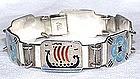 Rare Sterling Enamel David Andersen Sheinpflug Bracelet