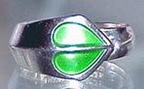 David Andersen Sterling Enamel Ring NORWAY