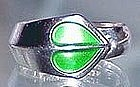 David Andersen Sterling Enamel Ring NORWAY