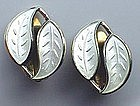 David Andersen Sterling Enamel Signed Earrings NORWAY
