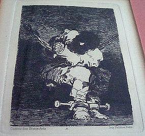 Francisco de Goya Original Etching Little Prisoner 1807
