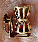 Old 14K Gold Pachinko Game Charm Moves  RARE