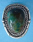 LARGE Sterling Silver Native American Ring with Stone