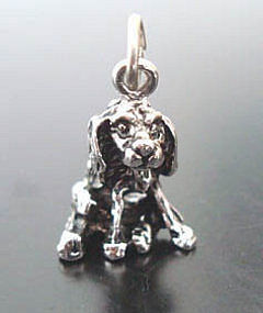 Vintage Sterling Silver Cocker Spaniel Dog Charm 3D