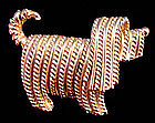 Vintage Terrier Dog Brooch / Pin by NAPIER All Marks