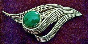 Vtg Danecraft Gold Fill Stone Brooch Pin Maker's Mark