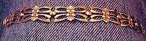 Fine Symmetalic Sterling and 14K Gold Link Bracelet
