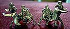 Vintage Sterling Screwback Earrings Bullfighting MEXICO