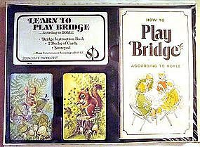 Bridge Playing Cards 5 Piece Set MINT c. 1950's HOYLE