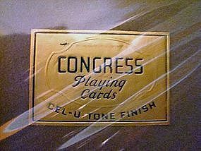 Congress Playing Cards Mint in Box Two Packs c.1950's