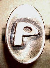 Vtg Sterling Modernist Studio Ring by Orb - 50's-60's
