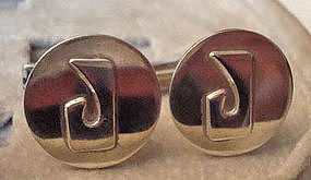 Vintage Sterling Silver Cuff Links by Leonore Doskow