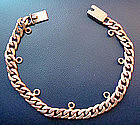Vintage Mexico Sterling Charm Bracelet  signed Jencha