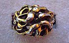 Vintage Gold Tone Ring w/ Openwork Design 1950's