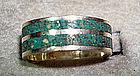 Taxco Mexico Sterling Silver Ring Azur-malachite Stone