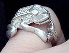 Sterling Silver Frog Ring - Vintage