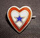 Fine WW2 Son of Service Sweetheart Sterling Enamel Pin