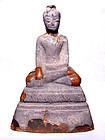 Silver Overlaid Burmese Buddha (#2) - 17th Century