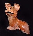 Rare Chinese Amber Glazed Han Dog - 206BC -220AD