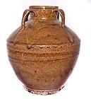 Chinese Tang Tea Dust Glazed Vase - 619 - 907AD