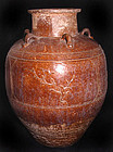 Rare Chinese Ming Three Friends Martaban Jar