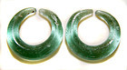 Pair of Ancient Glass Earrings - S.E. Asia 100 BC