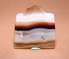 Ancient Natural Banded Agate Bead Pendant - 100BC #2