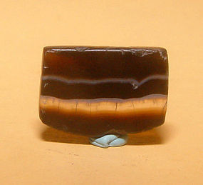 Ancient Natural Banded Agate Bead Pendant -100BC #11