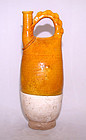 Chinese Liao Amber Glazed Flask - Liao 907 - 1125 AD