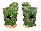 Chinese Ming Foo Lions Joss Stick Holders