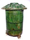 Chinese Green Glazed Han Granary - 206 BC - 220 AD
