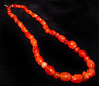 Ancient Carnelian Bead Necklace - Asia 1000-500 BC