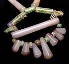 Quartz Jade Necklace -Tairona Culture Pre Columbian