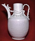 Rare Chinese Qingbai Song Ewer Two Dragons