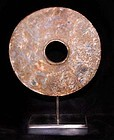 Large Neolithic Chinese Jade Bi Disc