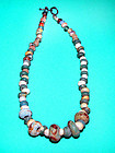 Chinese Han Glass Bead Necklace - 206BC - 220 AD