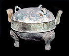 Chinese Bronze Ding - Warring States - 475-221 BC