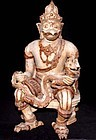 Large Rare Statue of Garuda Holding Naga 19th C.