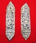 Two Rare Tibetan Bone Dancing Dakini Figures