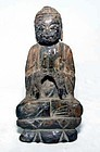 Chinese Lacquered Ming Wooden Buddha - 1368 - 1644 AD