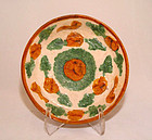 Chinese Liao Amber & Green Glazed Plate - 907 - 1125AD