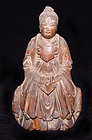 Chinese Ming Wooden Female Deity Daoist Statue