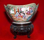 Rare Chinese Canton Ware Bowl and Stand