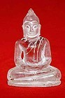Carved Crystal Glass Buddha - Southeast Asia - 19th Century