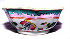 Chinese Nyonya Ware Bowl with Butterflies - 19th C.