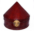 Chinese's Official's Leather Hat Box - Qing Dynasty